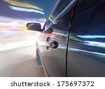 car on the road with motion... | Shutterstock . vector #175697372