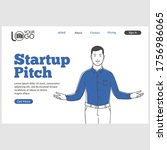 startup pitch landing page in...