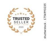 best seller badge logo design.... | Shutterstock .eps vector #1756993235