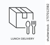 ready food delivery line icon.... | Shutterstock .eps vector #1757012582