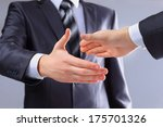 photo of handshake of business... | Shutterstock . vector #175701326
