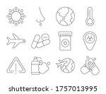 set of icons coronavirus... | Shutterstock .eps vector #1757013995