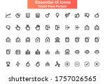 essential ui icons set. cloud...