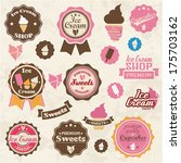 collection of vintage retro ice ... | Shutterstock .eps vector #175703162