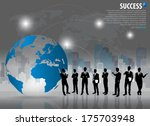 business people silhouettes...   Shutterstock .eps vector #175703948