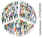 large group of people in the... | Shutterstock .eps vector #1757039555