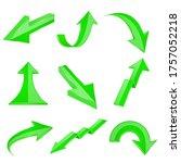 green bent arrows. shiny 3d...   Shutterstock . vector #1757052218