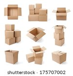 collection of various cardboard ... | Shutterstock . vector #175707002