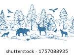 sketch vector horizontal... | Shutterstock .eps vector #1757088935