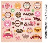 collection of vintage retro ice ... | Shutterstock .eps vector #175713062