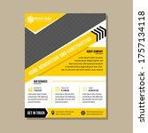 vertical layout flyer design...   Shutterstock .eps vector #1757134118