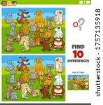 cartoon illustration of finding ... | Shutterstock .eps vector #1757135918