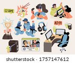 set of cyber sport pro gaming... | Shutterstock .eps vector #1757147612