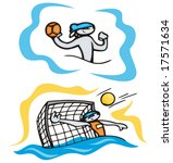 bunny water polo. great for t... | Shutterstock .eps vector #17571634