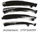 flat paint brush thin long...   Shutterstock .eps vector #1757164295