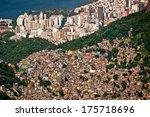aerial view of favela da... | Shutterstock . vector #175718696