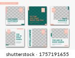 barbershop social media post... | Shutterstock .eps vector #1757191655