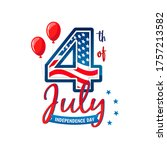 4th of july greeting card... | Shutterstock .eps vector #1757213582