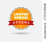 limited period offers label... | Shutterstock .eps vector #1757219048