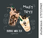 bubble tea special promotions... | Shutterstock .eps vector #1757219465