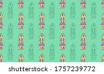 seamless pattern with hand...   Shutterstock .eps vector #1757239772