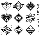 set of retro vintage badges and ... | Shutterstock .eps vector #175725602