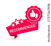 recommended red icon with stars ... | Shutterstock .eps vector #1757262908