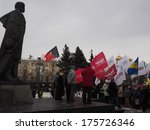 Постер, плакат: Rally at the monument