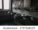 Burnt House Interior. Charred...