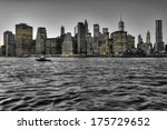 manhattan skyline with brooklyn ... | Shutterstock . vector #175729652