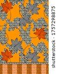 textile design for febric print   Shutterstock . vector #1757298875