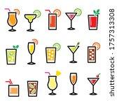 cocktails  popular alcoholic... | Shutterstock .eps vector #1757313308