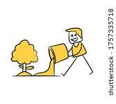 gardener fertilizing tree... | Shutterstock .eps vector #1757335718