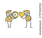 businessman exchange clock and... | Shutterstock .eps vector #1757342552