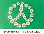 Peace Symbol Made Of White...