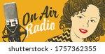 radio broadcasting concept. on... | Shutterstock .eps vector #1757362355