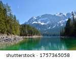 Mountains Lake Landscape With...