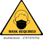 mask required symbol. wear mask ... | Shutterstock .eps vector #1757374742