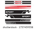 vector sports stripes for the... | Shutterstock .eps vector #1757459558
