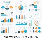 big infographic vector elements ... | Shutterstock .eps vector #175748876
