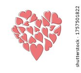 a heart inside of which there...   Shutterstock .eps vector #1757501822