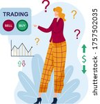 Woman Character Think Trading ...