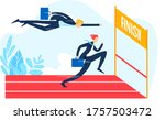 businessman character running... | Shutterstock .eps vector #1757503472