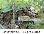 An Automobile Graveyard. Wreck...