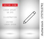 pencil icon vector . lorem...