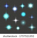 white glowing light explodes on ... | Shutterstock .eps vector #1757521352