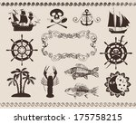 design elements to the marine... | Shutterstock .eps vector #175758215