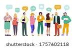 group people speech bubbles...   Shutterstock .eps vector #1757602118