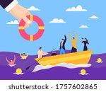 crisis help business support...   Shutterstock .eps vector #1757602865