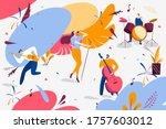 musical band concert... | Shutterstock .eps vector #1757603012